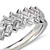 Truly Zac Posen Baguette Braided Diamond Ring in Platinum and 18k Yellow Gold