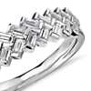 Truly Zac Posen Braided Baguette Diamond Ring in Platinum (2/3 ct. tw.)