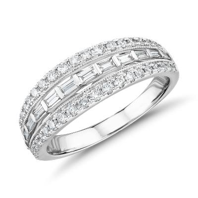 bague diamant 3 rangs