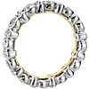 Truly Zac Posen Bezel-Set Diamond Eternity Ring in Platinum and 18k Yellow Gold