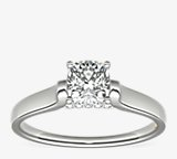 ZAC Zac Posen Cathedral Solitaire Plus Diamond Engagement Ring