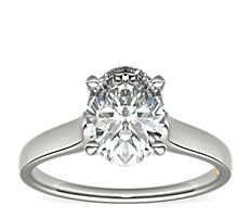 ZAC Zac Posen Cathedral Solitaire Plus Diamond Engagement Ring in Platinum