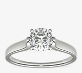 ZAC Zac Posen Cathedral Solitaire Plus Diamond Engagement Ring