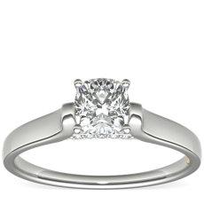 ZAC Zac Posen Cathedral Solitaire Plus Diamond Engagement Ring in Platinum