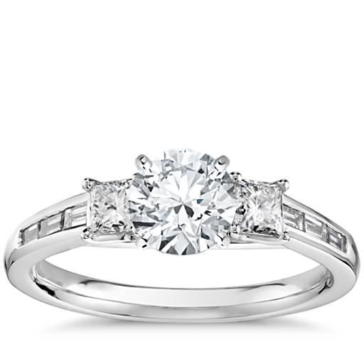 Engagement Rings Zac Posen: Truly Zac Posen Channel-Set Baguette Diamond Engagement