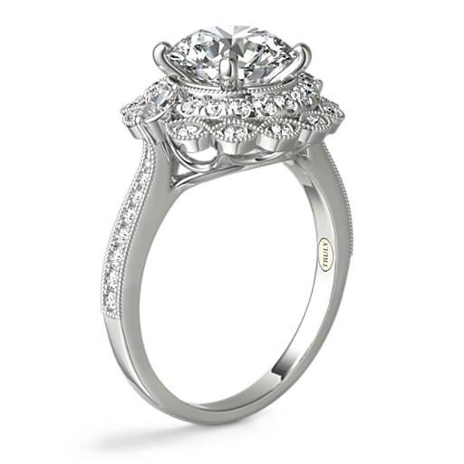 ZAC Zac Posen Marquise Double Halo Diamond Engagement Ring