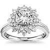 Truly Zac Posen Double Sunburst Diamond Halo Engagement Ring in 14k White Gold (5/8 ct. tw.)