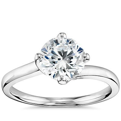ZAC Zac Posen East-West Solitaire Engagement Ring in Platinum