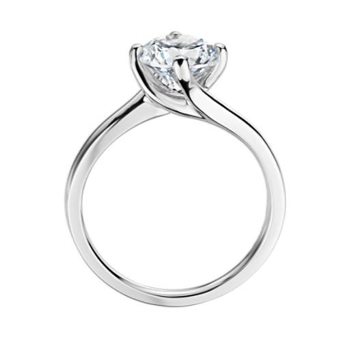 ZAC Zac Posen East-West Solitaire Engagement Ring