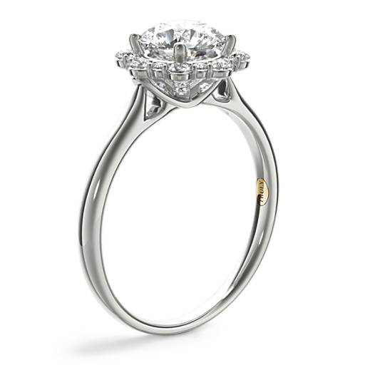 ZAC Zac Posen Floral Halo Diamond Engagement Ring
