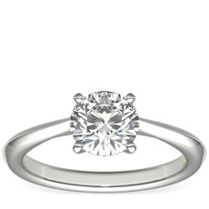 ZAC Zac Posen Knife-Edge Solitaire Engagement Ring in Platinum
