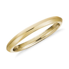 ZAC Zac Posen Knife-Edge Wedding Ring in 14k Yellow Gold