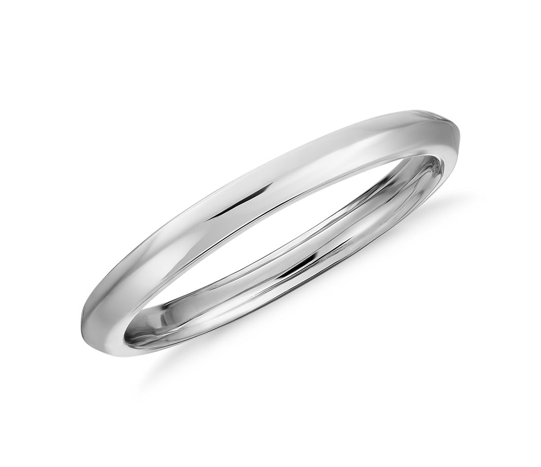 Truly Zac Posen Knife-Edge Wedding Ring in Platinum