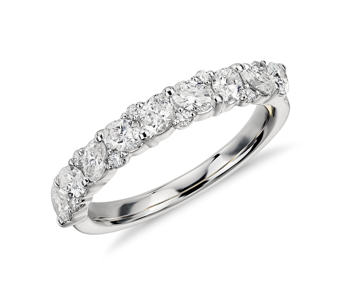 Truly Zac Posen Leaf Diamond Ring in Platinum and 18k Yellow Gold