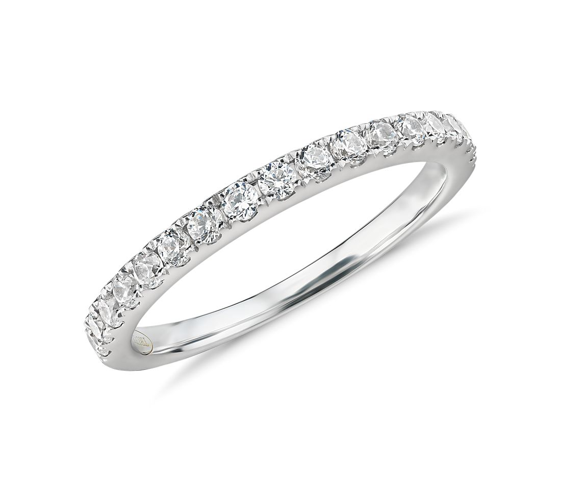 Pavé Diamond Ring in 14k White Gold (2/5 ct. tw.)