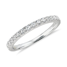 NEW Truly Zac Posen Pavé Diamond Ring in 14k White Gold