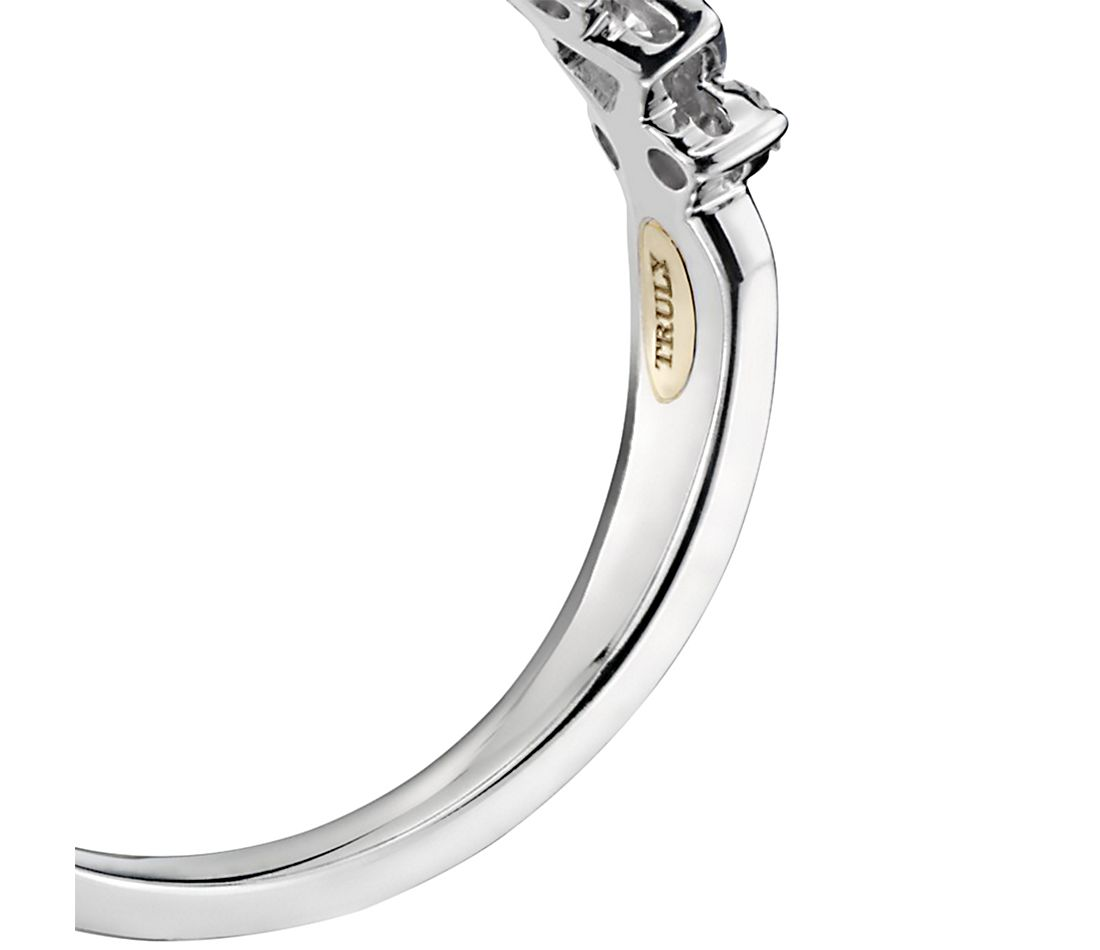 ZAC Zac Posen Princess-Cut Halo Diamond Engagement Ring in 14k White Gold (1/2 ct. tw.)