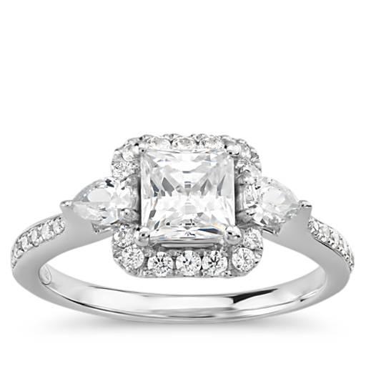Engagement Rings Zac Posen: Truly Zac Posen Princess-Cut Halo Diamond Engagement Ring