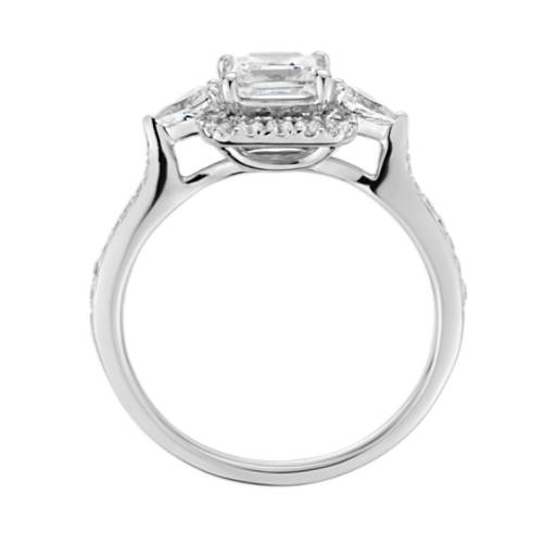 ZAC Zac Posen Princess-Cut Halo Diamond Engagement Ring