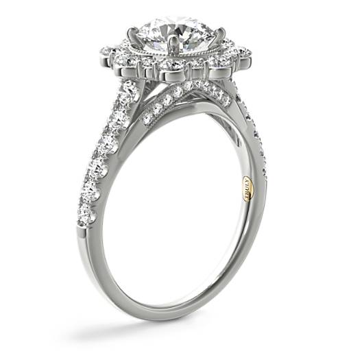 ZAC Zac Posen Star Halo Diamond Engagement Ring
