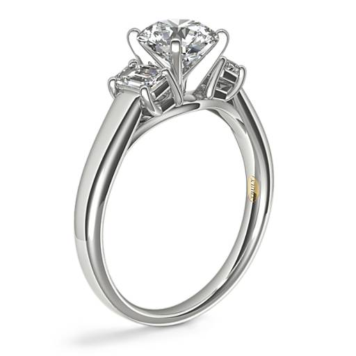 ZAC Zac Posen Three-Stone Emerald-Cut Diamond Engagement Ring