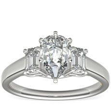 ZAC Zac Posen Three-Stone Emerald-Cut Diamond Engagement Ring in Platinum (0.36 ct. tw.)