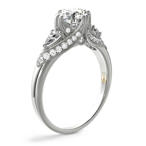 Truly Zac Posen Vintage Three-Stone Diamond Engagement Ring
