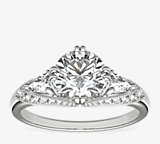 ZAC Zac Posen Vintage Three-Stone Diamond Engagement Ring