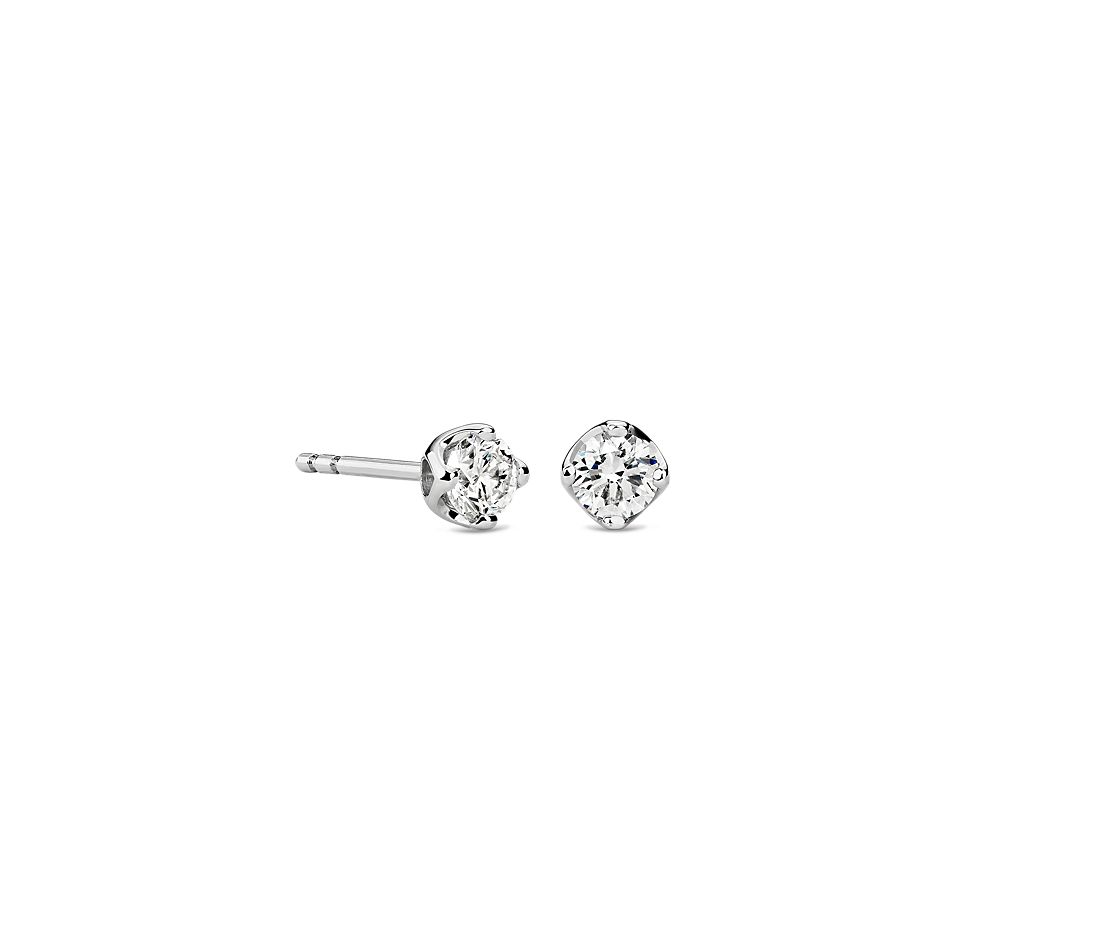 Tulip Stud Earring in 18K White Gold (1/2 ct. tw.)