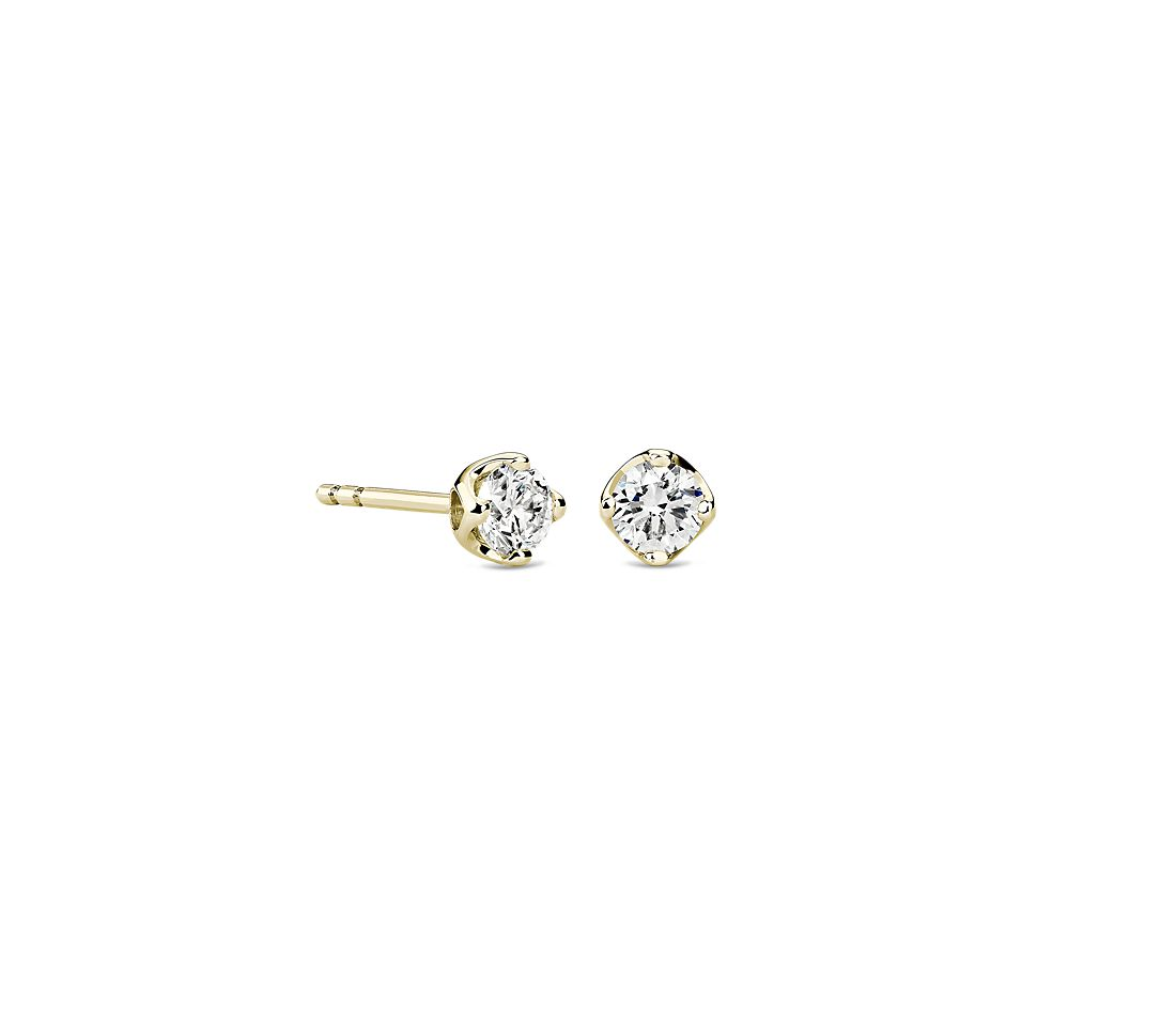 Tulip Stud Earring in 18K Yellow Gold (1/2 ct. tw.)