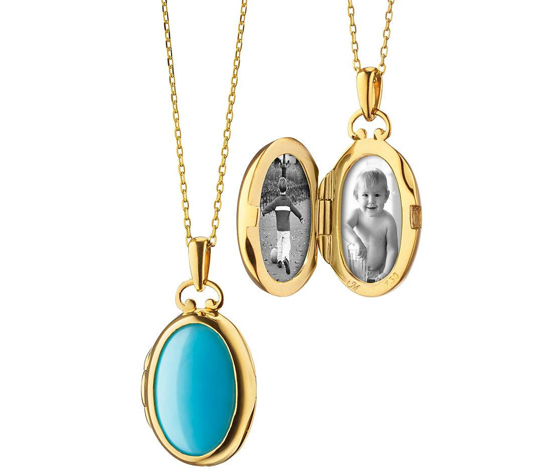 Monica Rich Kosann Petite Turquoise And Mother Of Pearl