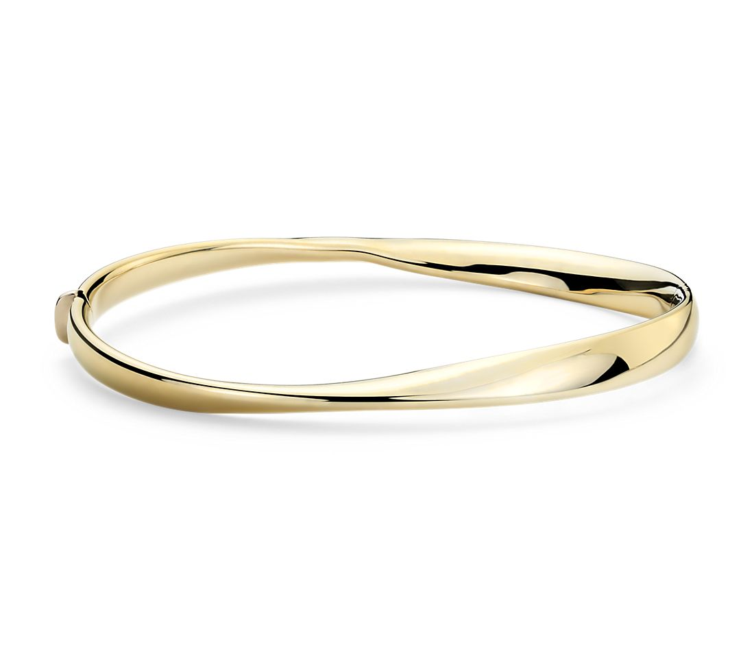 Twist Bangle in 14k Italian Yellow Gold
