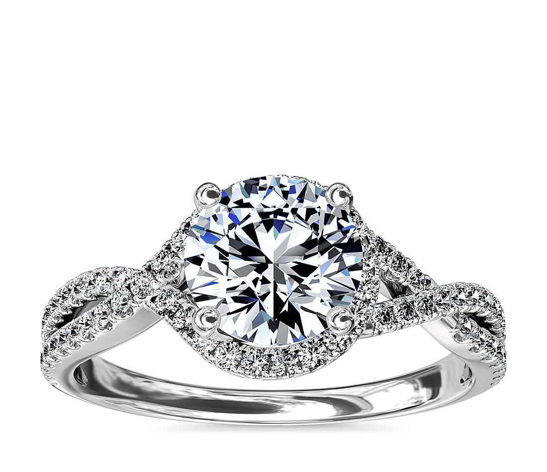 2 5 Carat Diamond Halo Engagement Ring