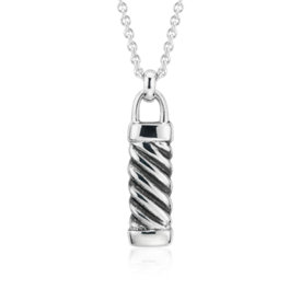 NEW Twist Love Lock Pendant in plata de ley