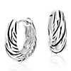 Twisted Huggie Hoop Earrings in Sterling Silver (5/8
