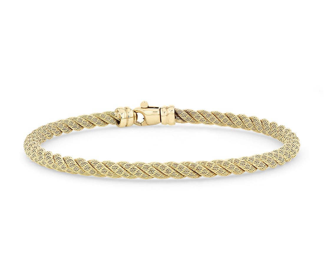 Twisted Rope Bracelet in 18k Yellow Gold