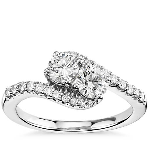 engagement rings ring solitaire accented two gold pid preset wedding tone diamond e
