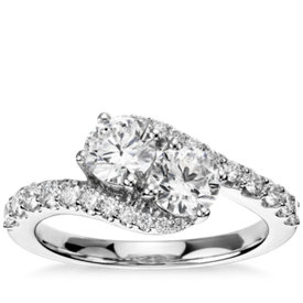 Two-Stone Diamond Ring in 14k White Gold (1 1/3 ct. tw.)