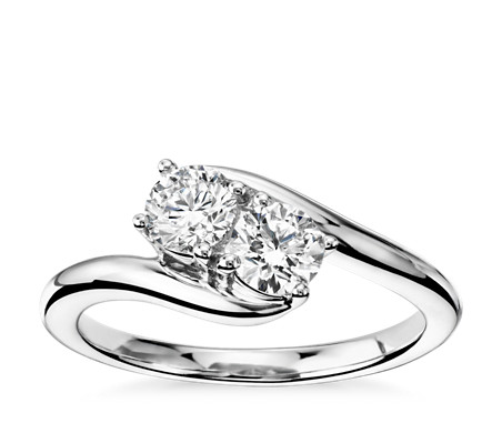 ring diamond bands stone three wedding p band engagement in petite trellis platinum