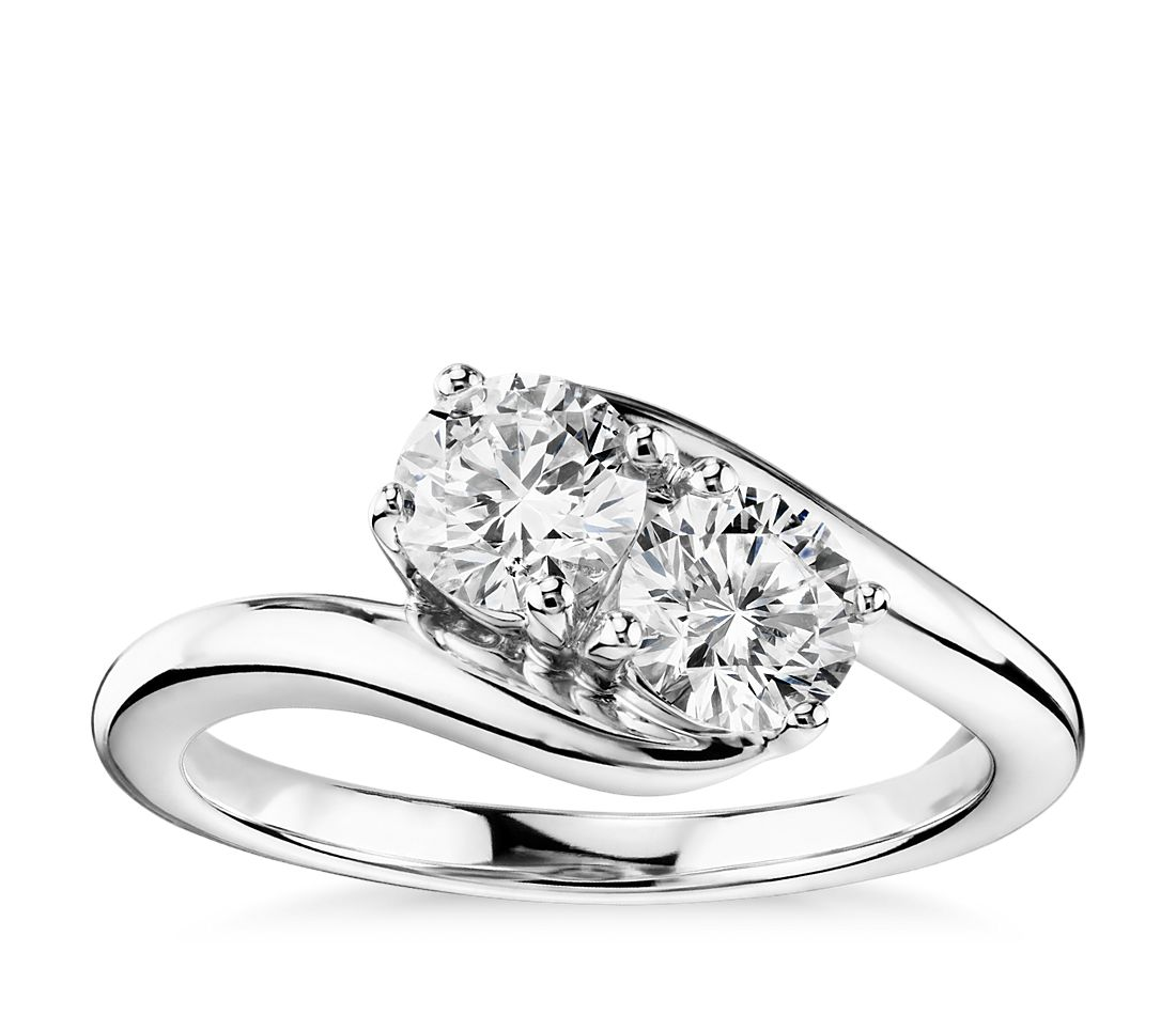 Two-Stone Solitaire Diamond Ring in 14k White Gold (1 ct. tw ... e0650e5f6