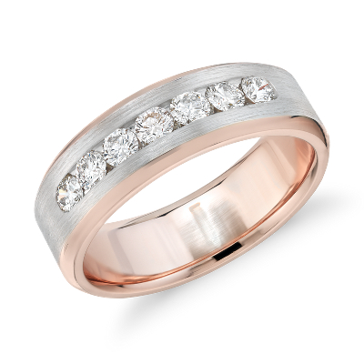 bague diamant et or rose