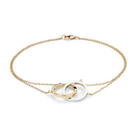 NEW Two-Tone Forever Together Bracelet in 14k White and Yellow Gold