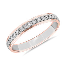 NEW Two-Tone Diamond Female Ring in 14k White & Rose Gold