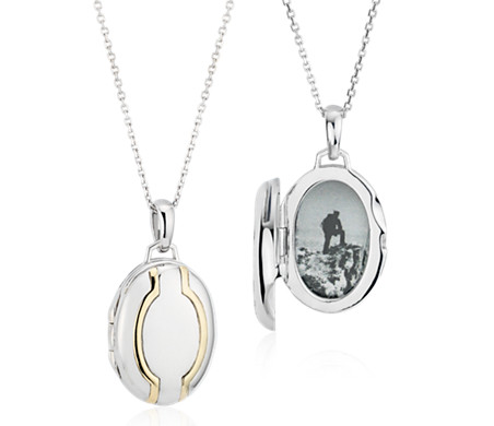Blue Nile Vintage-Inspired Round Locket in Sterling Silver PlUL8gX