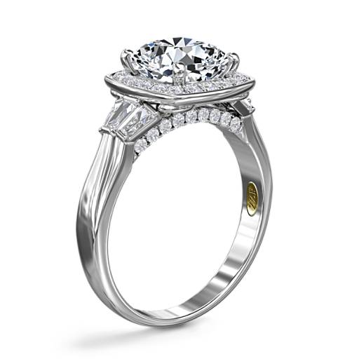 ZAC Zac Posen Square Halo Diamond Engagement Ring