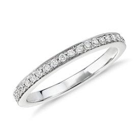 Bague en diamants sertis pavé de petite taille Verona en or blanc 14carats (1/6carat, poids total)