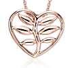 Vine Heart Pendant in 14k Rose Gold