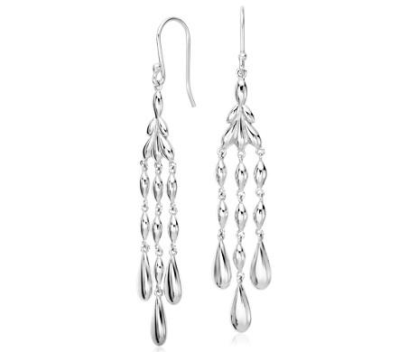 Vintage Chandelier Drop Earrings in Sterling Silver