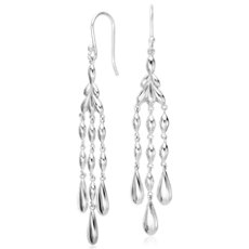 Vintage Chandelier Drop Earrings in Sterling Silver