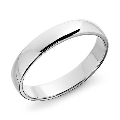 Classic Wedding Ring in 14k White Gold 4mm Blue Nile